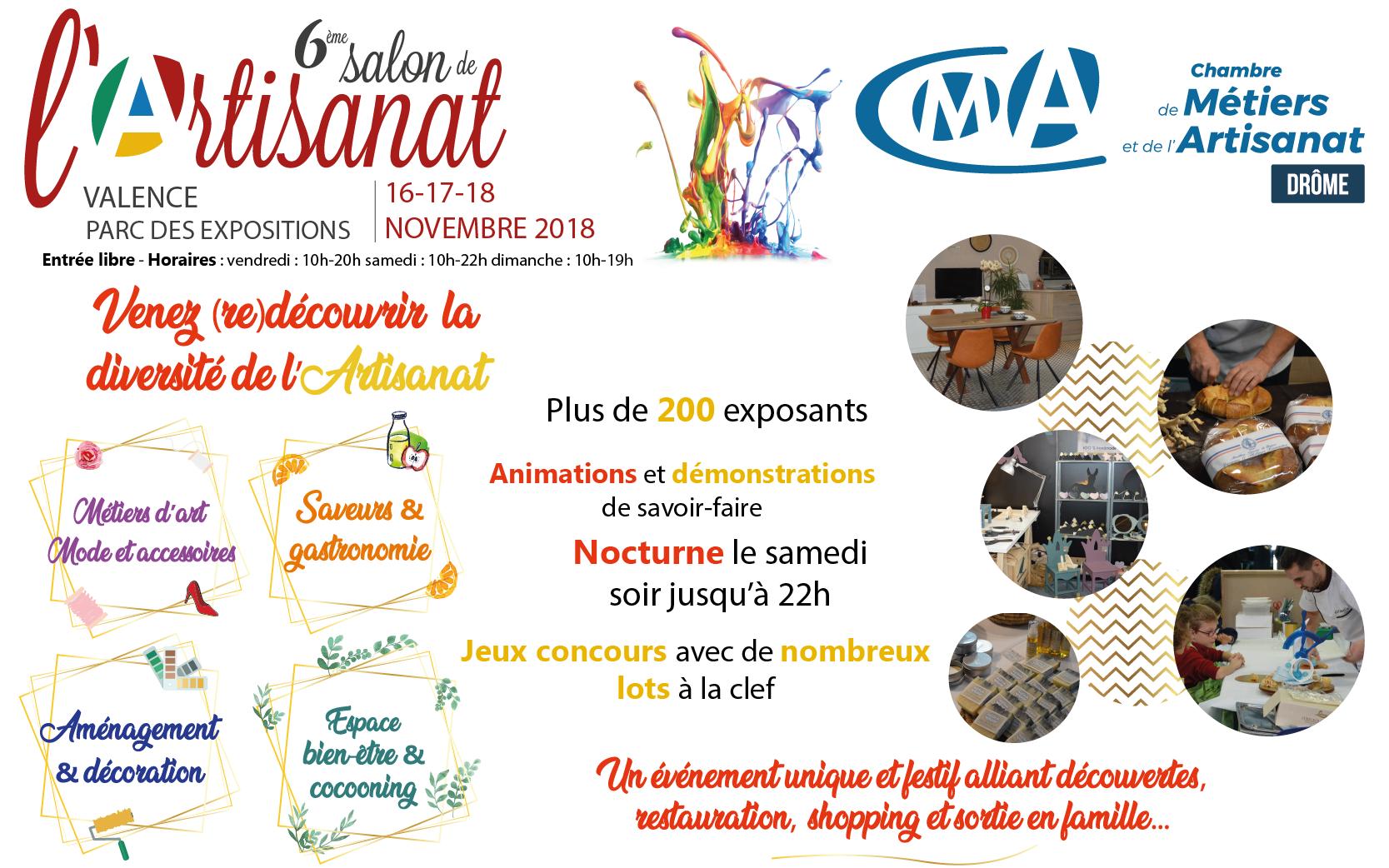 """Résultat de recherche d'images pour """"salon de l'artisanat valence 2018"""""""
