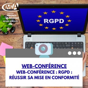 Web-conférence : RGPD : Réussir sa mise en conformité